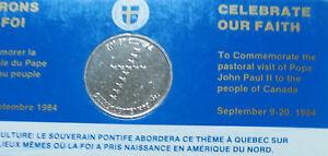 1984 Pope John Paul II Visit to Canada Commemorative Mint Set (ID=M1161E-3)