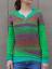 Mode-Femme-Pull-Chandails-Casual-Chaud-Loisir-Bande-Couture-Manche-Longue-Plus miniature 8