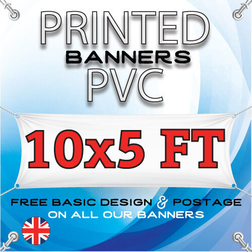 10 X 5 FT PVC BANNER OUTDOOR SIGN ADVERTISING VINYL BANNERS BIRTHDAY PARTY