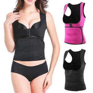 233e5ec6ce Women Waist Trainer Neoprene Sauna Fat Burner Belly Body Shaper Vest ...