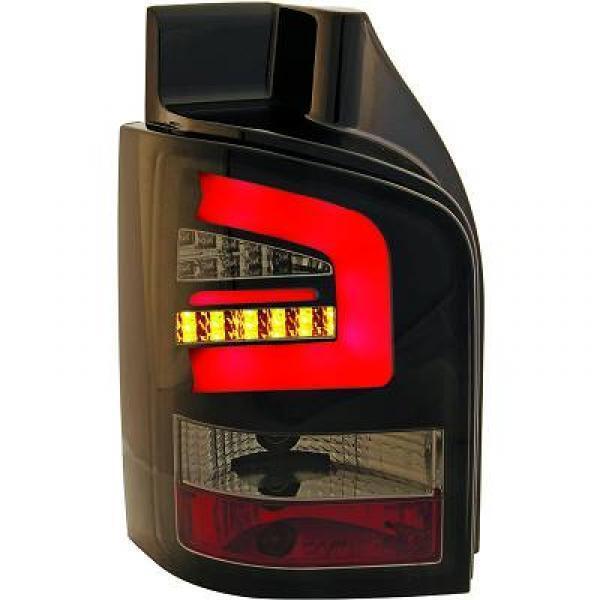 Paar Scheinwerfer Rücklichter Tuning VW T5 03-09 Heckträger Rauch' LED