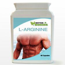 L-arginine HCL 500mg 90 Capsules Bouteille pompe musculaire oxyde nitrique
