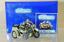 COLLECTORS SHOWCASE CS00235 WWII GERMAN ARMY BMW R75 with CREW AFRIKA CORPS na