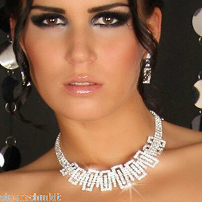 In Workmanship Candid Sexy Rhinestones Jewelry Amazing Sparkling Necklace & Earrings Set Fast Shipping Exquisite