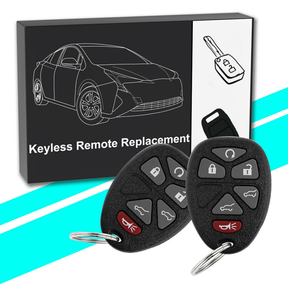 2 For 2007 -2014 GMC Yukon Cadillac Escalade keyless Entry Remote start key fob