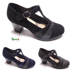 Caricamento dell immagine in corso Scarpe-donna-trendy-fashion-Mary-Jane -cinturino-tacco- b80a2891cbe