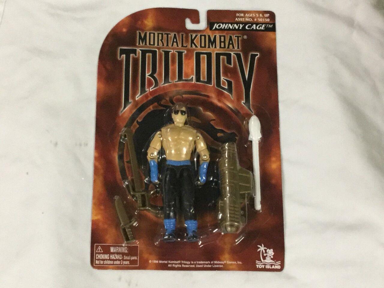 Vintage 1996 Mortal Kombat Trilogy Johnny Cage Figure MOC MISP Sealed Carded