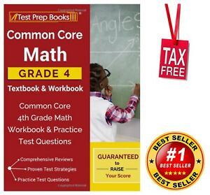 Common Core Math Grade 4 Textbook Workbook Practice Test Questions