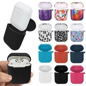 innovative design 3ee2a 5d21a Details about For Apple AirPods Case Protective Silicone Shockproof  Charging Cover Hang Pouch
