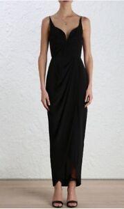 6b462be7ec54d Image is loading Zimmermann-Silk-Drape-Long-Dress-Formal-Bridesmaid-Black-