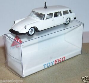 MICRO-TOY-EKO-TOYEKO-HO-1-86-1-87-ESPANA-CITROEN-DS-19-BREAK-ANTENA-REF-2076-BOX