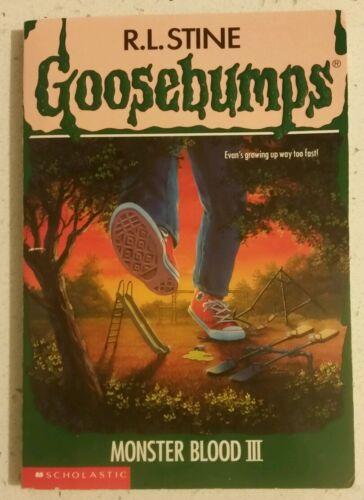 1 of 1 - GOOSEBUMPS - RL STINE - # 29 - MONSTER BLOOOD III - 1ST ED 1995