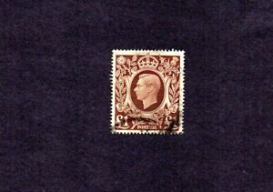 GREAT BRITAIN 1948 SCOTT# 275. KING GEORGE VI. 1 POUND. HIGH VALUE.