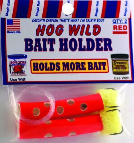 2pk Lot of 3 Magic Bait Hog Wild Dipper Bait Holder Mesh Catfish Treble USA