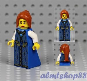 Zabawki konstrukcyjne LEGO Female Minifigure White Dress & Dark Red Ponytail Hair Princess Castle LEGO Zabawki