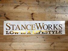 Stance Works Vinyl Car Sticker Gold Chrome 100cm XXL Size