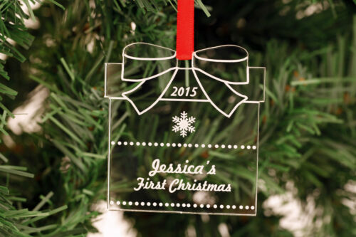 Personalised Christmas Present Tree Decorations ! Engraved
