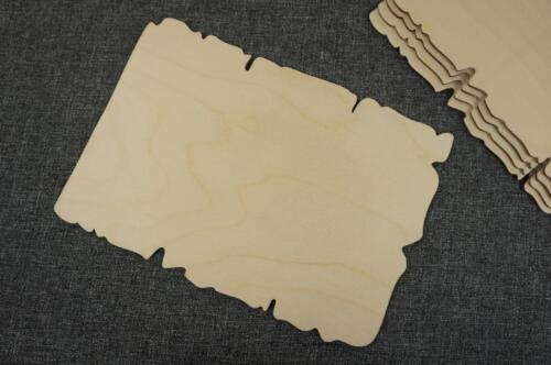 5 x Papyrus Holz Platte Menü Blank Geschenk Verschönerung Dekoration Bastel W75