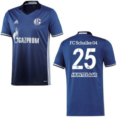 ai7222 ai7227 ADIDAS Schalke 04 home maglia di casa 2016//2017 blu//bianco con FLOCK
