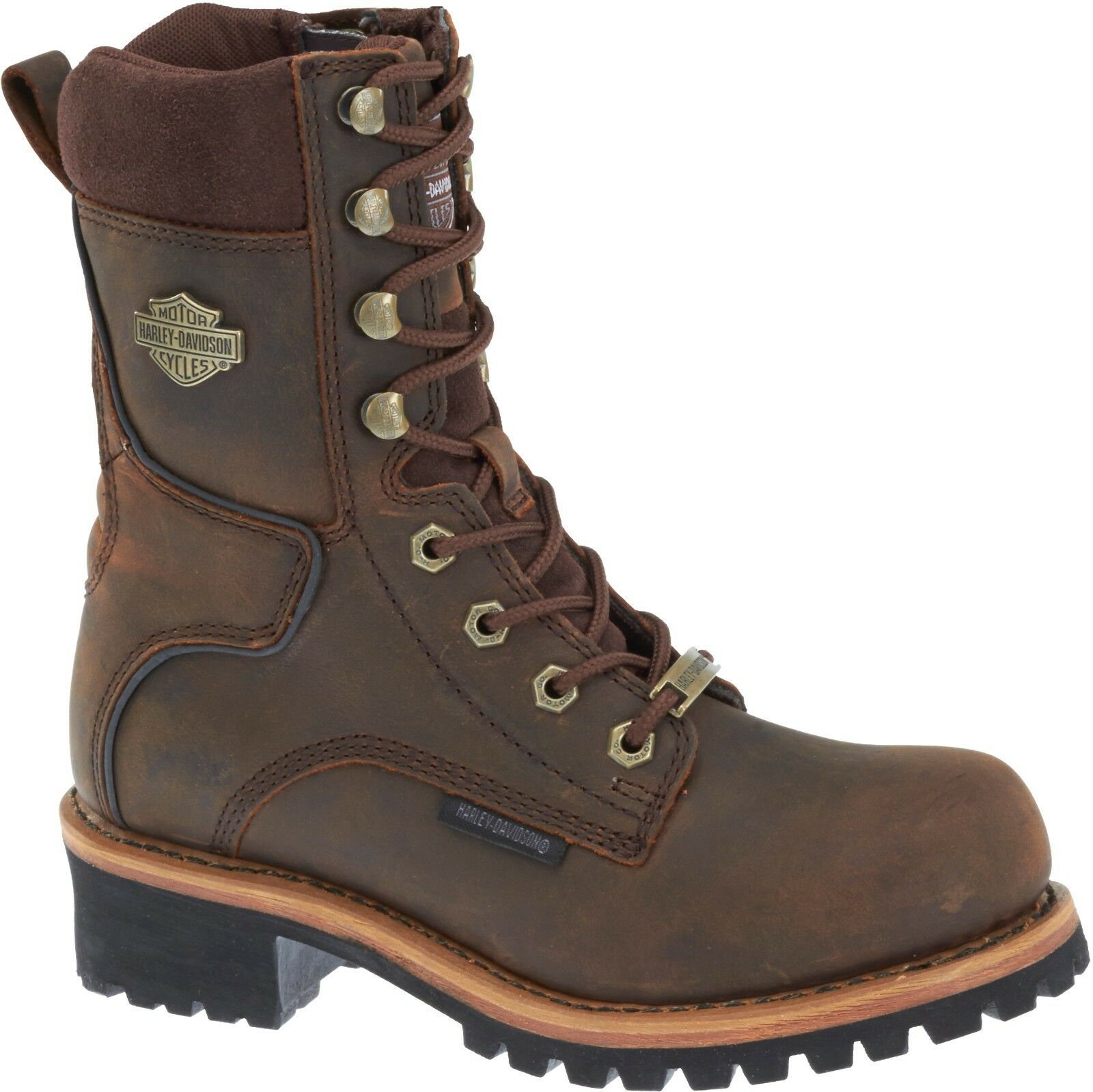 Harley-Davidson Women's Tyson Brown Leather Motorcycle Boot D87088