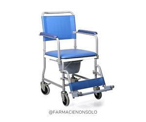 Sedia Wc Comoda Con 4 Ruote Piroettanti Per Anziani E Disabili Moretti Mopedia Ebay