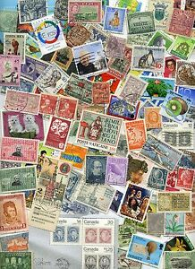 FOREIGN-Stamp-MIX-OFF-PAPER-100-From-Old-Collections-With-HUGE-BONUS