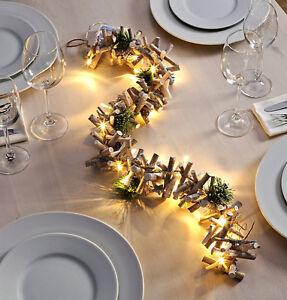 Led Lichterkette Tischdeko Weihnachtsbeleuchtung Holz Aste