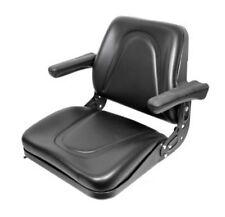 Universal Tractor Seat w/ Slide Tracks T500BL Kubota Ford Case IH Allis MF JD ++