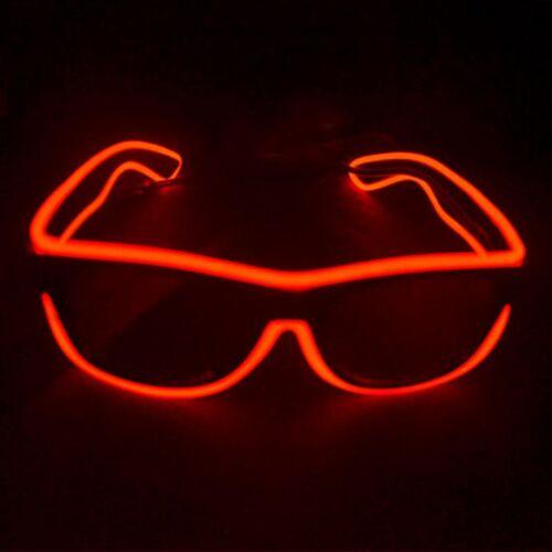 LED Light Up Gläser Shaped Glasses Partybrille Leuchtbrille Controller Party