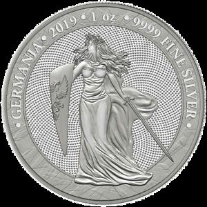 NEW 2019 Germania 5 Mark 1oz 9999 Fine Silver w/ Capsule IN STOCK READY TO SHIP