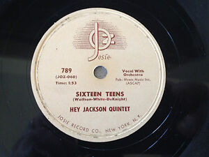 78-rpm-HEY-JACKSON-QUINTET-50s-Sixteen-Teens-Rock-N-039-Roll-March-JUKEBOX-Record