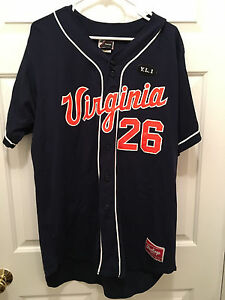 Virginia Cavaliers Baseball Coach Brian O'Connor Game Worn Blue Orange Jersey