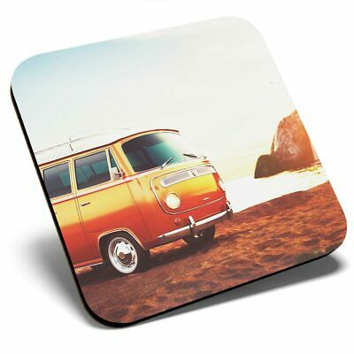 2 x Coasters Surf Beach Van Bus Surfer Surfing Home Gift #8171