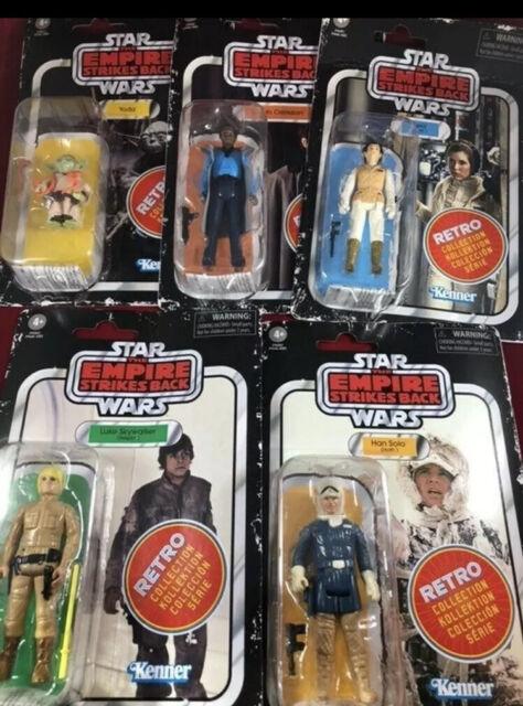 Kenner Star Wars ESB Retro Wave 2 Lot Of 6 Boba Fett Luke Leia Han Yoda Lando