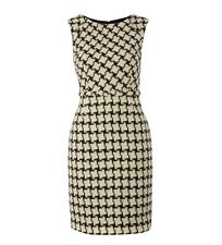 HOBBS Esme 100% Wool Shift Dress, Black And White, BNWT, RRP £149.00