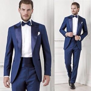 Image Is Loading Formal Groom Tuxedos Navy Blue Best Man Suit