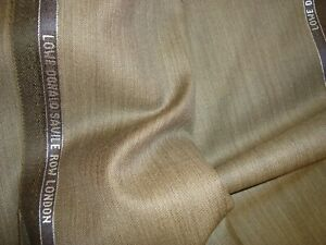 4-44-yd-LOWE-DONALD-WOOL-Super-130s-FABRIC-Luxury-Suiting-8-oz-Bronze-160-034-BTP