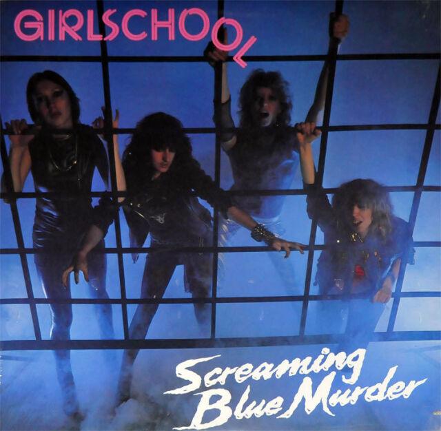 GIRLSCHOOL - SCREAMING BLUE MURDER - LP REISSUE BLUE VINYL NEW SEALED 2017