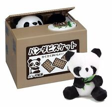 Panda Cookie Coin Saving Box & Panda Stuffed Plush Window Hanging Birthday Toy