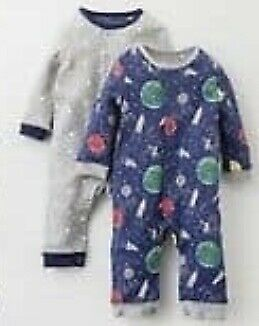 Ex Baby Boden Fun Printed Jersey Sleepsuits Rompers 0-2Yrs RRP £18
