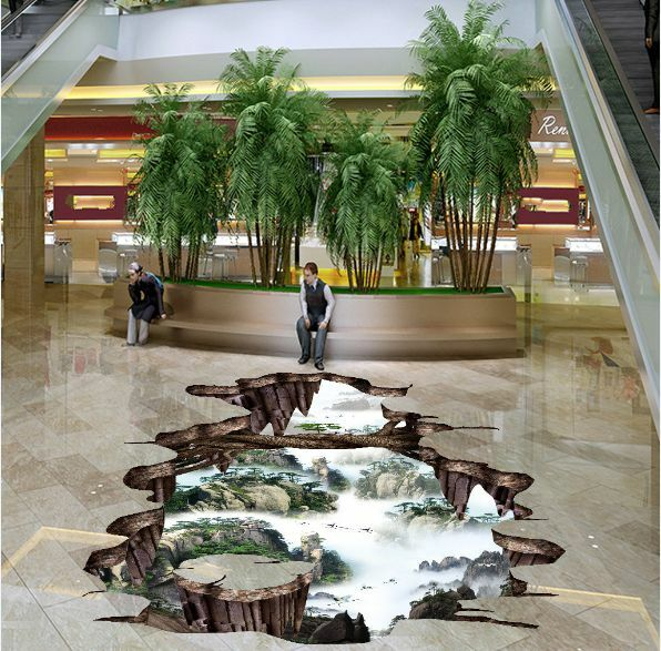3D pittura grotta Pavimento Foto Wallpaper Murales Muro Stampa Decalcomania
