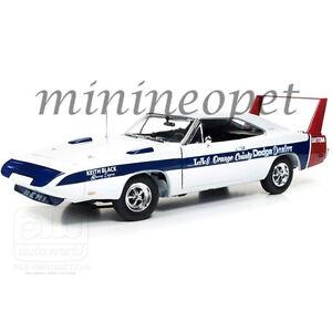 AUTOWORLD-AMM1091-CULTURE-EDITION-1969-DODGE-CHARGER-DAYTONA-1-18-DIECAST-WHITE