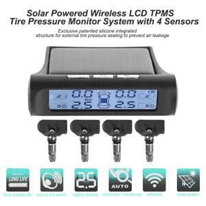 1* Car TPMS Wireless Tire Pressure Monitoring System LCD 4 External Sensors