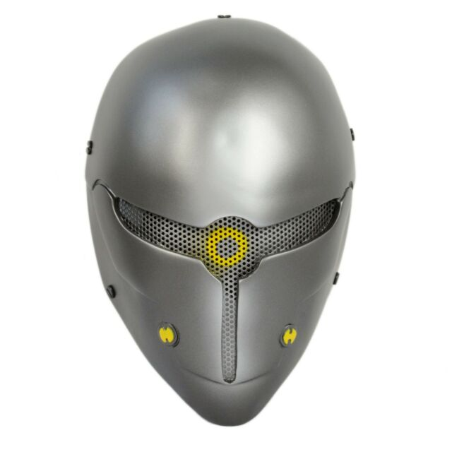 Paintball Airsoft Wire Mesh Full Face Protection Robot Mask Prop Cosplay A002F