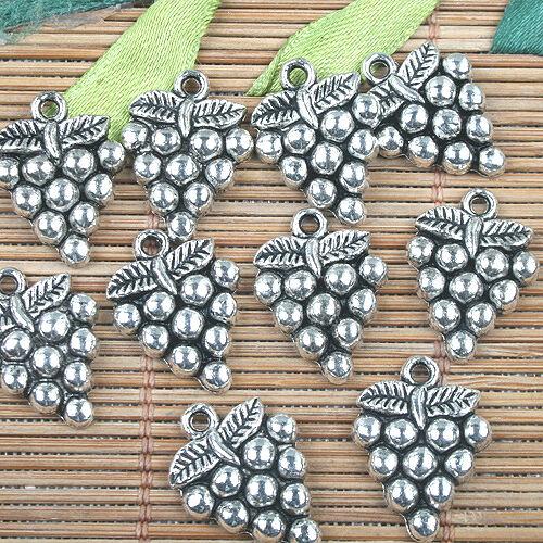 10pcs antiqued silver leaf pattern pendant G1559