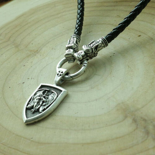 Archangel St Michael Protection Saint Pendant Necklace Shield Jewellery Talisman