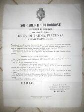 Y520-PARMA-1850 COMMISSARIATI A BORGO S.DONNINO E BORGOTARO