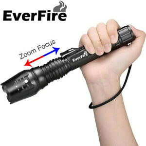 EverFire-90000LM-T6-Tactical-Military-LED-Flashlight-Torch-Zoomable-18650
