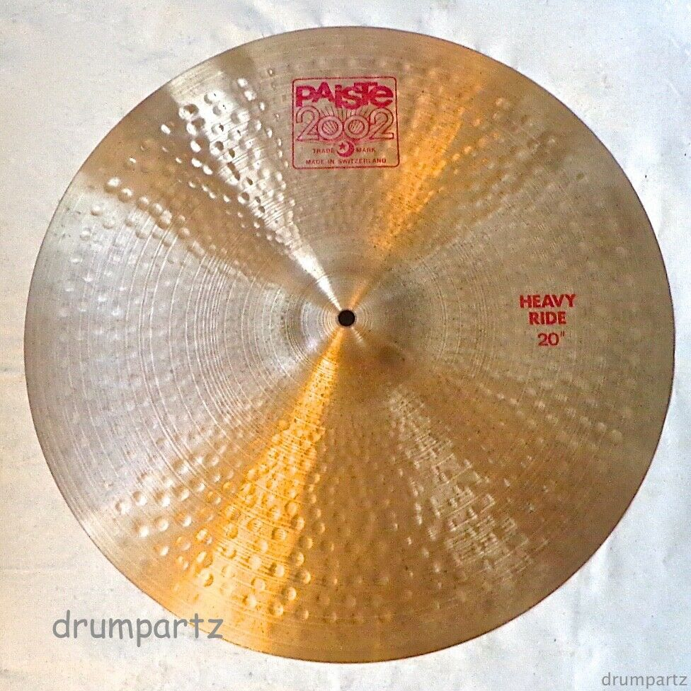 PAISTE - 20  Vintage 2002 HEAVY RIDE CYMBAL - Swiss rot Label Glassy Ping