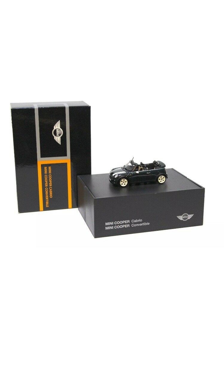 Bmw mini cooper cabrio 1.6 r52 british racing Grün 1 43 minichamps dealer - modell